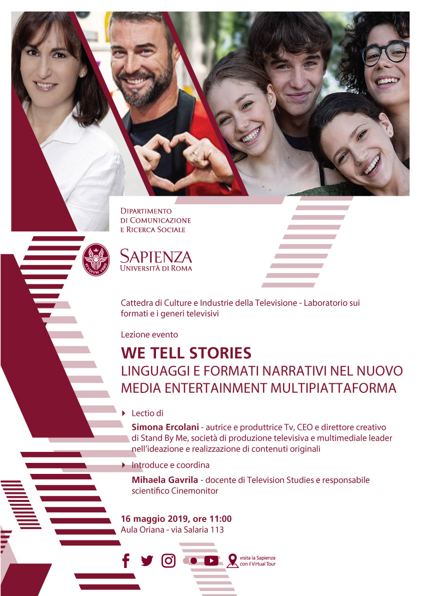 """We tell stories"": lezione evento con Simona Ercolani"