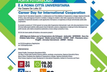 Carrer Day for international Cooperation, per chi è in cerca di lavoro